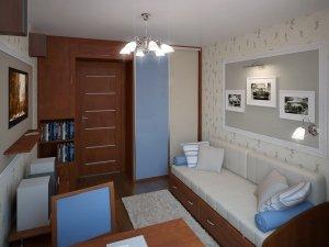 Белый тканевый натяжной потолок в детскую комнату