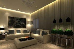 Парящий потолок в гостинную