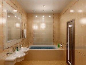 Стильный потолок в ванную
