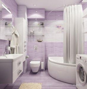 Белый матовый потолок в ванную