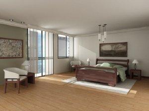 Глянцевый  потолок в спальню